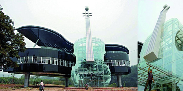 The Piano House fue construida en Huainan (provincia de Anhui, China)