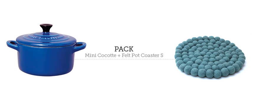 Mini cocotte Le Creuset y posavasos Felt Pot coaster (pequeño)