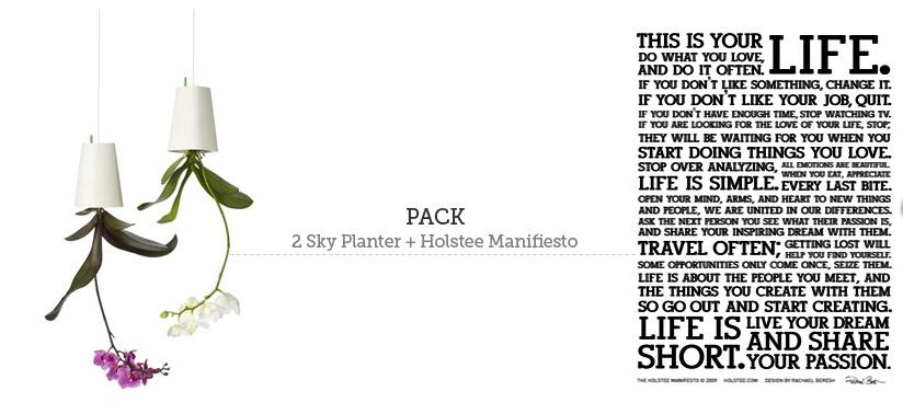 Maceta Sky Planter y Manifesto