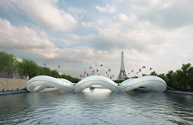 Puente cama elástica en París de Atelier AZC