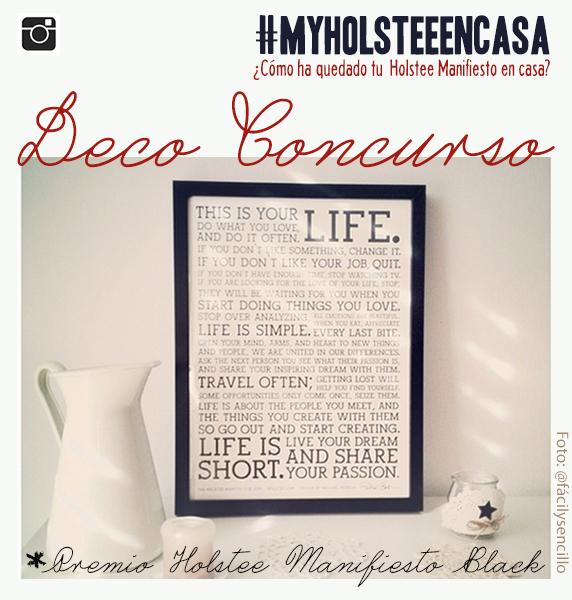 sube tu rincón en casa decorado con el Holstee Manifesto
