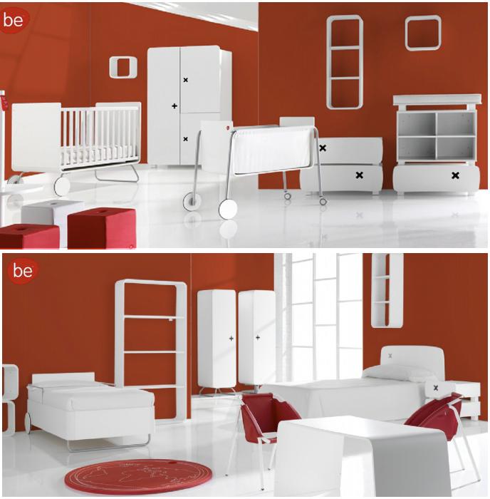 dormitorio infantil y juvenil con muebles BE