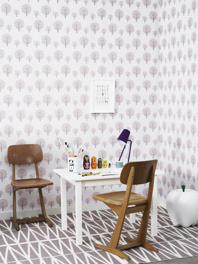Papel de pared Dotty Rose de ferm LIVING