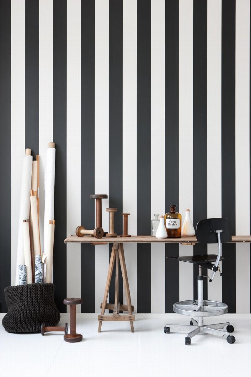 Cute workspace with fermLIVING wallpaper Vertigo