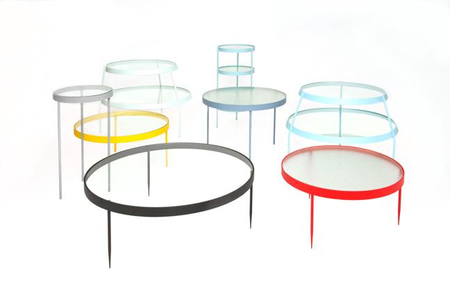 """Colección Pina"" (Familia de 7 mesas auxiliares)"