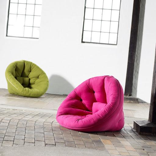 Butaca de día futón de noche, muebles funcionales