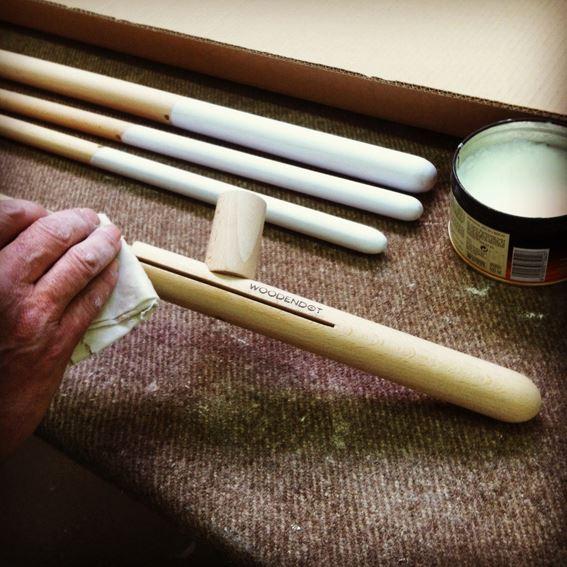 Tratamiento con cera natural no tóxica de la madera en Woondendot