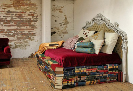 Bed made by books