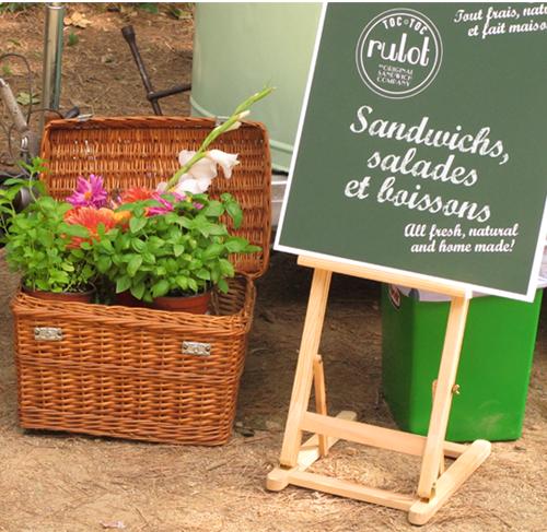 sandwichs, salades et boissons
