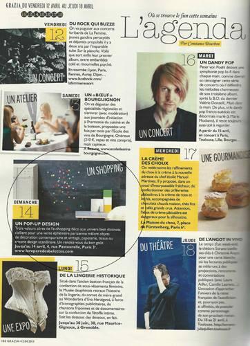 L'Agenda Grazia Magazine Francia, Junio 2013