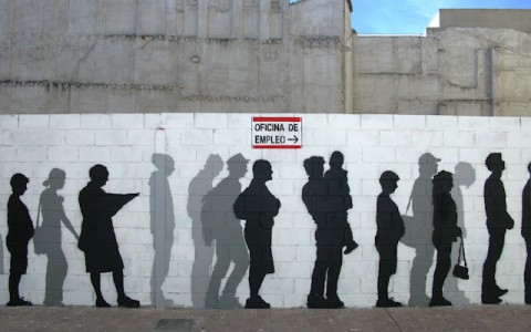 Mural 24 desempleados Zaragoza Septiembre 2012, ABOVE