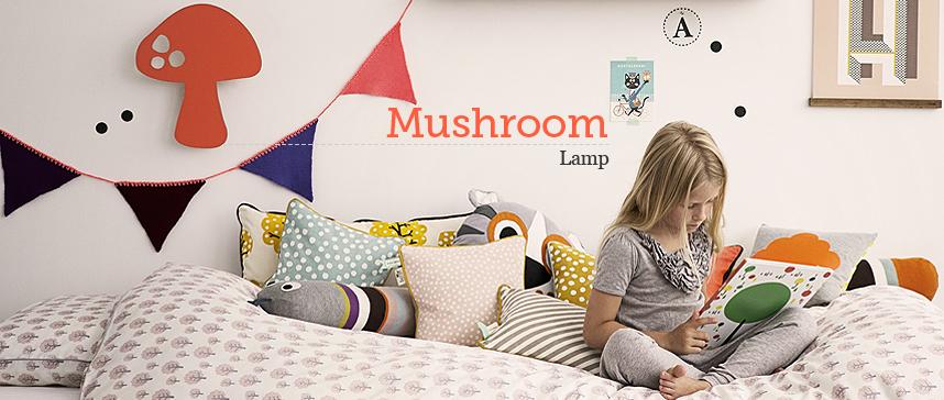 Lámpara aplique niños mushroom coral de ferm LIVING en OTTOYANNA
