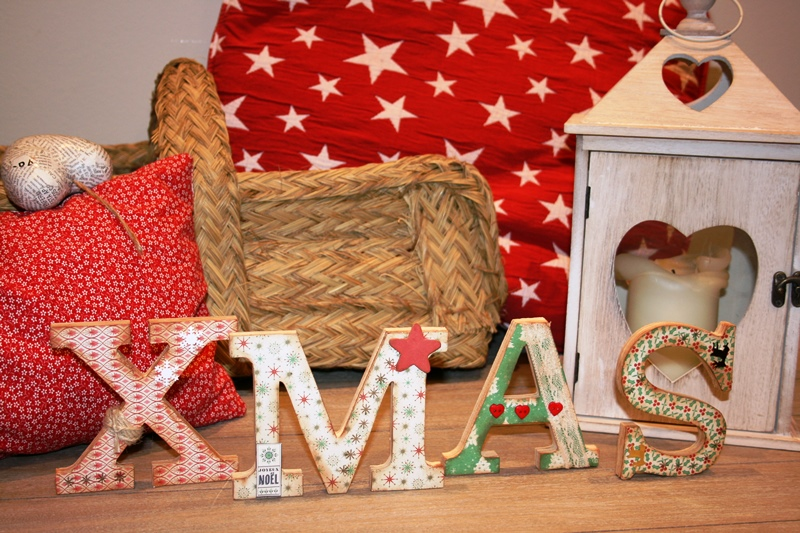 Letras de madera XMAS de 100% made with love