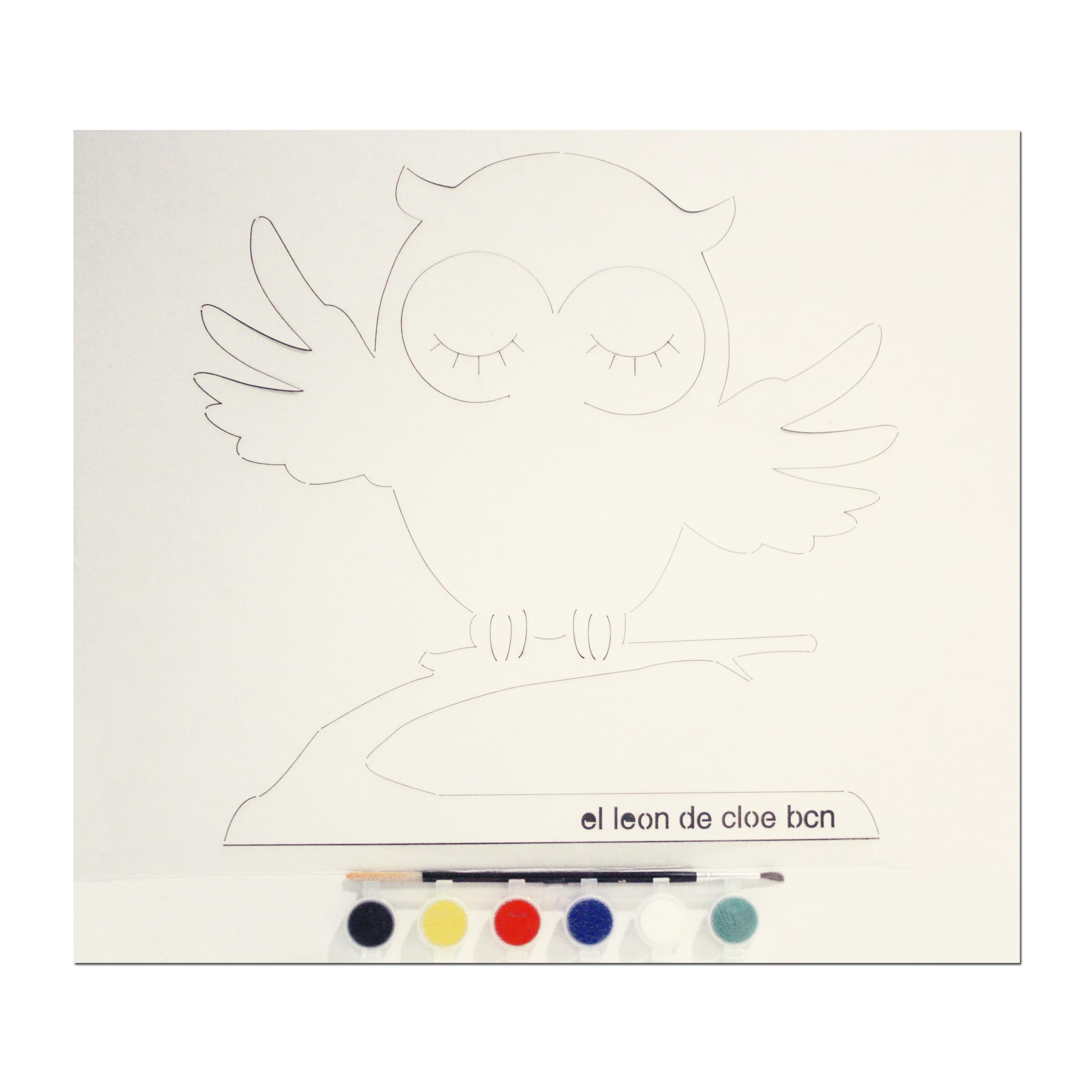 Kit de pintar Búho del León de Cloe. El regalo perfecto para cualquier niño.