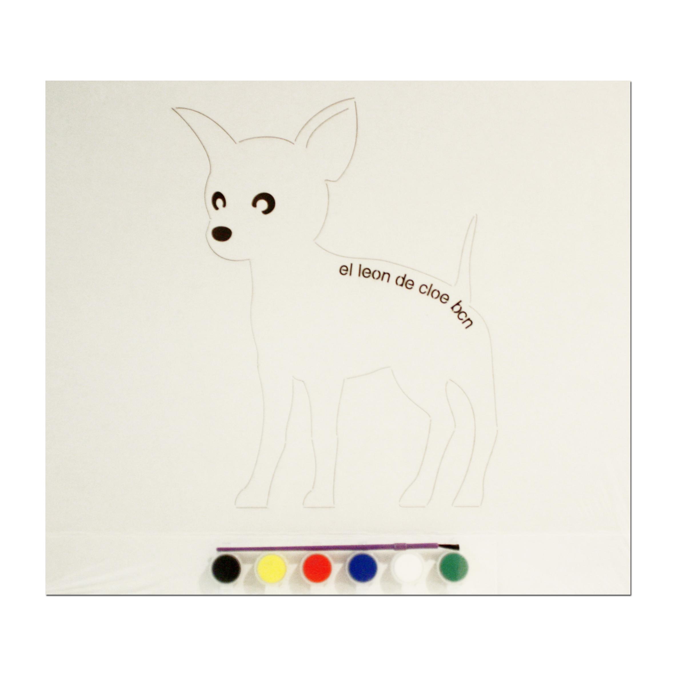 Kit de pintar Chihuahua del León de Cloe. El regalo perfecto para cualquier niño.