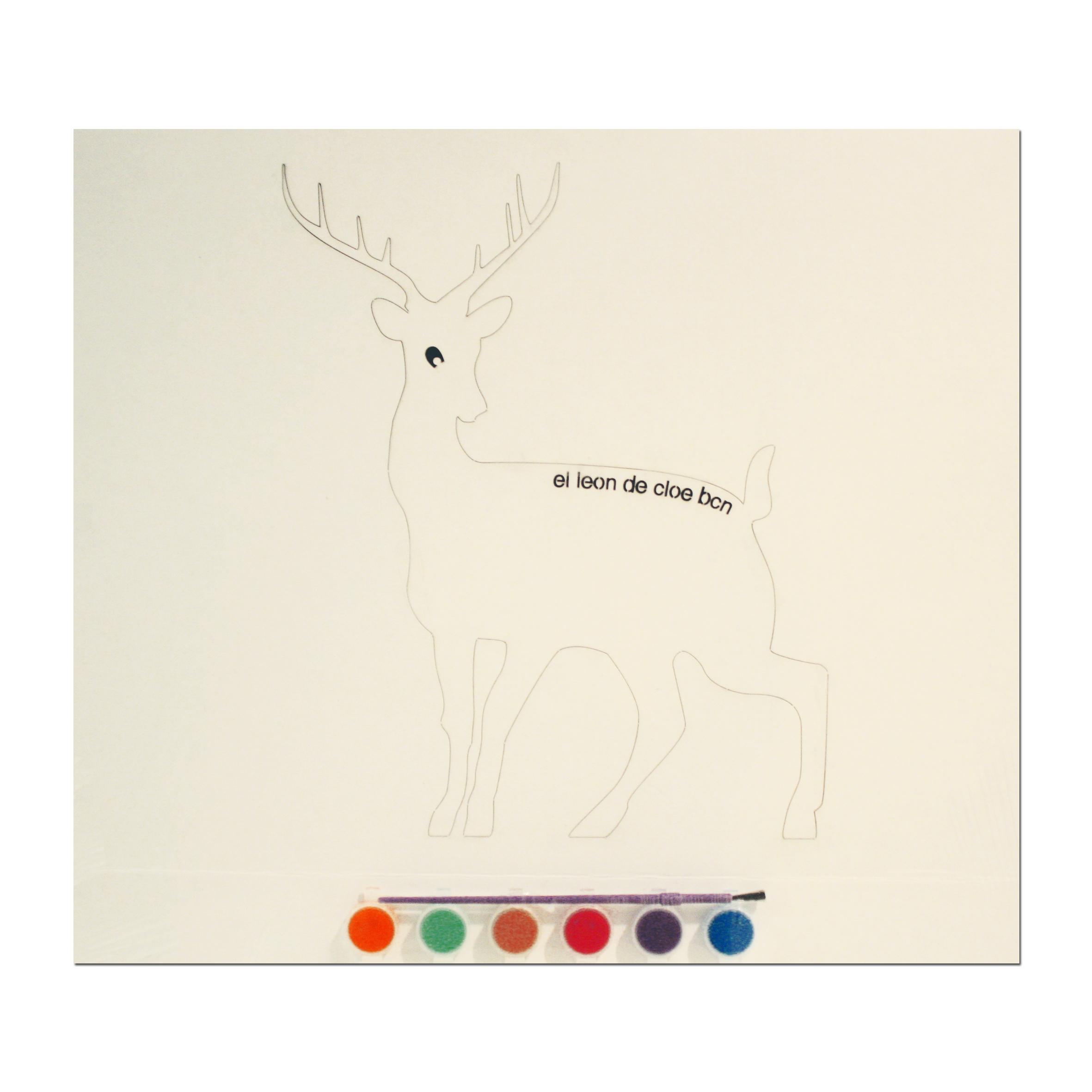 Kit de pintar Ciervo del León de Cloe. El regalo perfecto para cualquier niño.