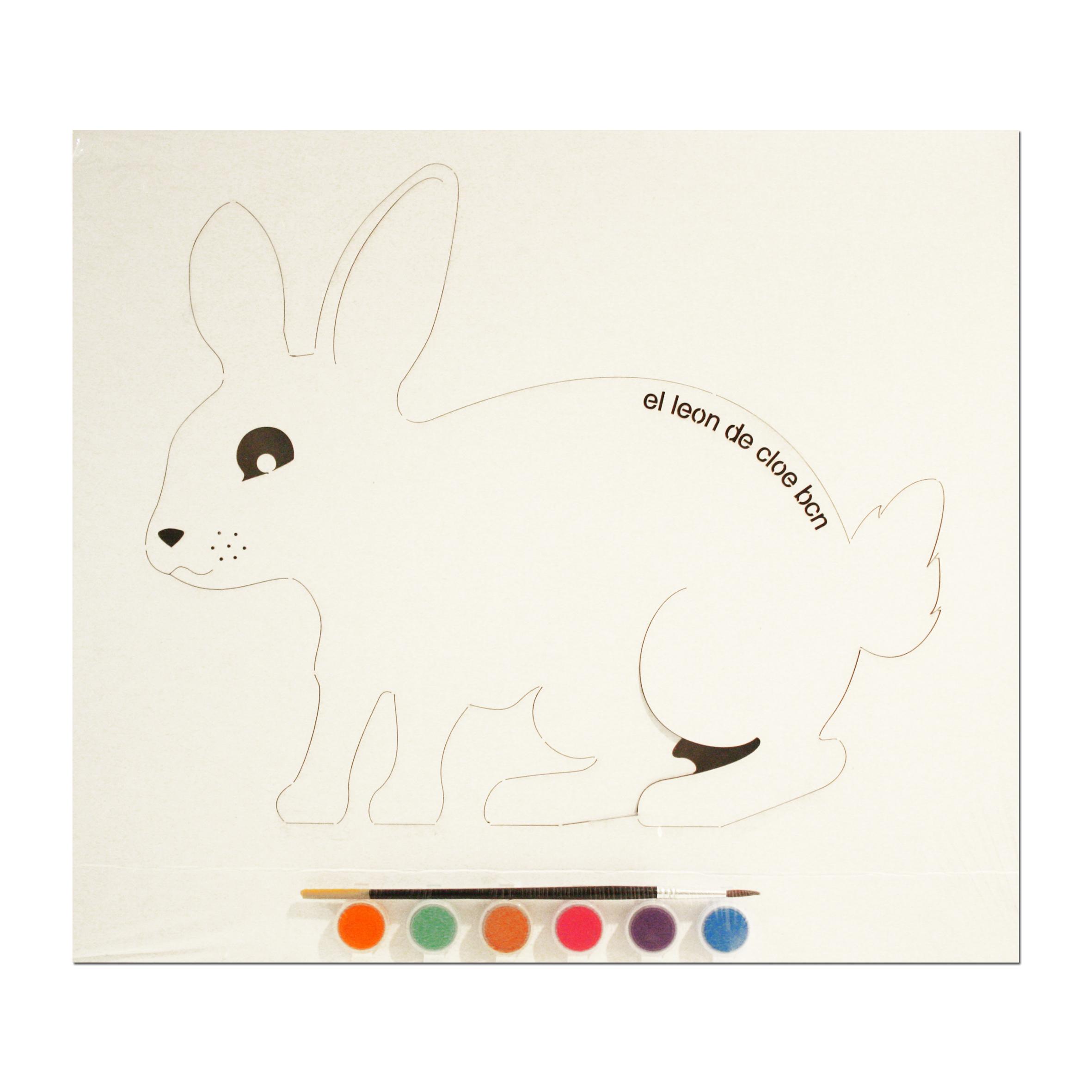 Kit de pintar Conejo del León de Cloe. El regalo perfecto para cualquier niño.