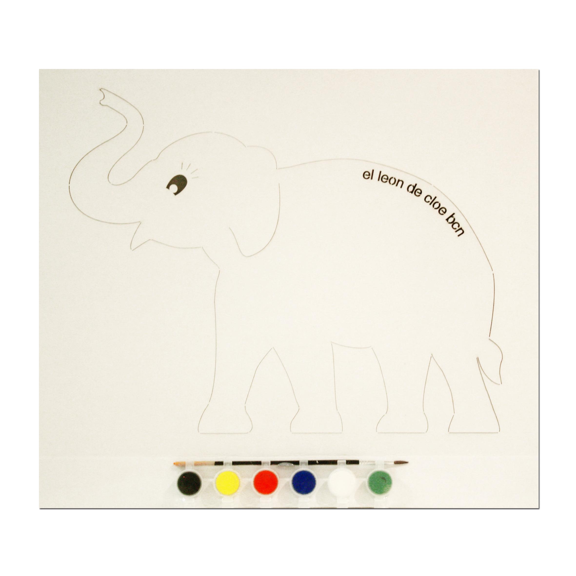 Kit de pintar Elefante del León de Cloe. El regalo perfecto para cualquier niño.