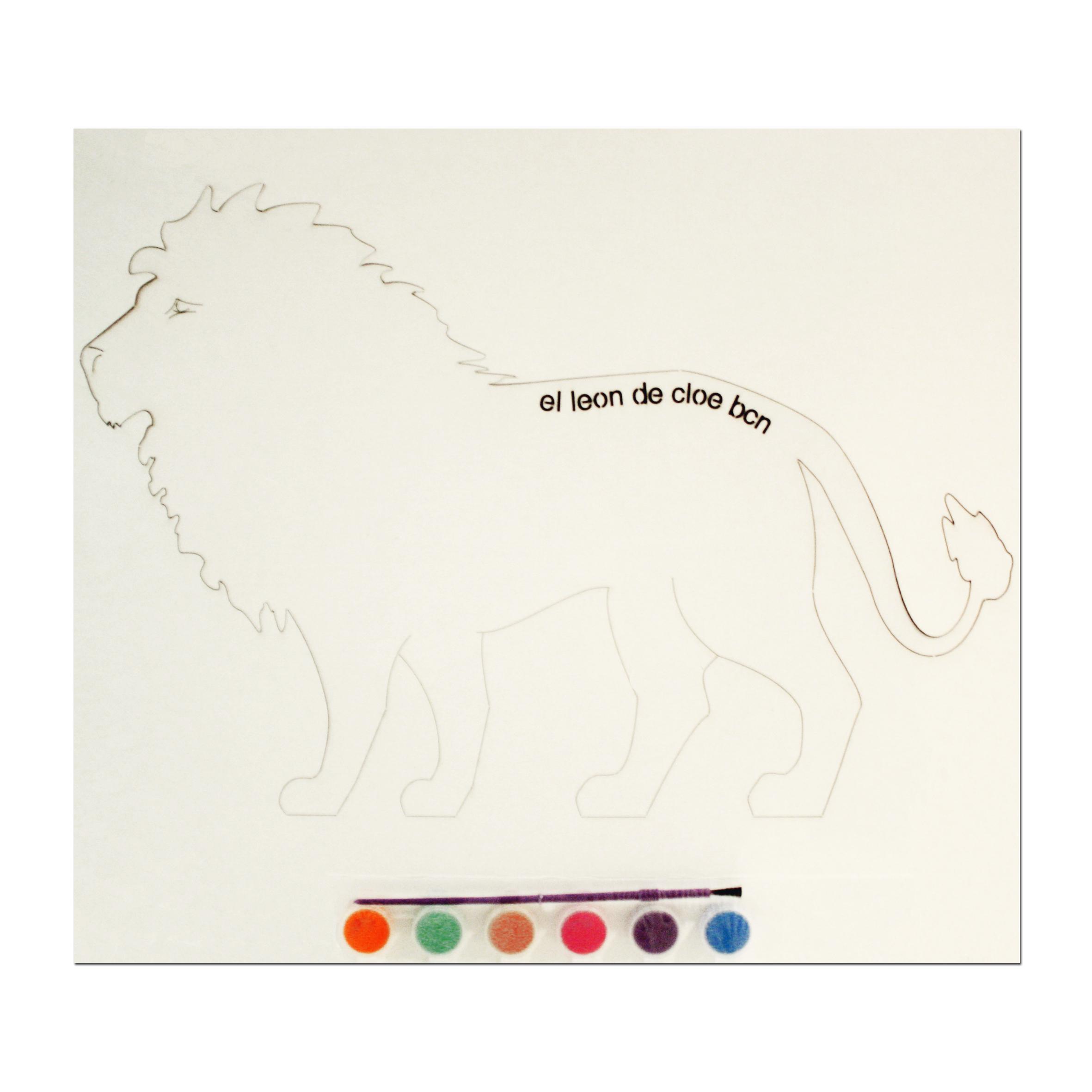 Kit de pintar León del León de Cloe. El regalo perfecto para cualquier niño.