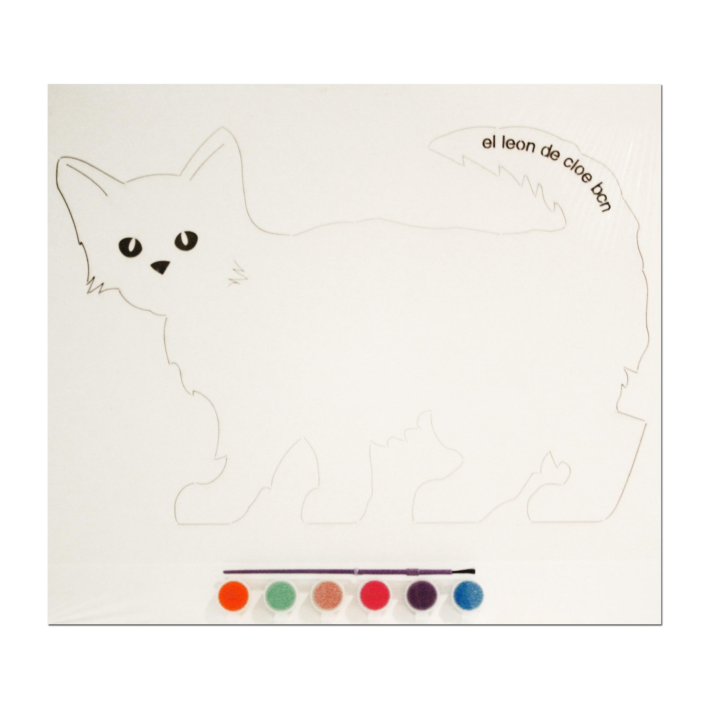 Kit de pintar Gato Persa del León de Cloe. El regalo perfecto para cualquier niño.