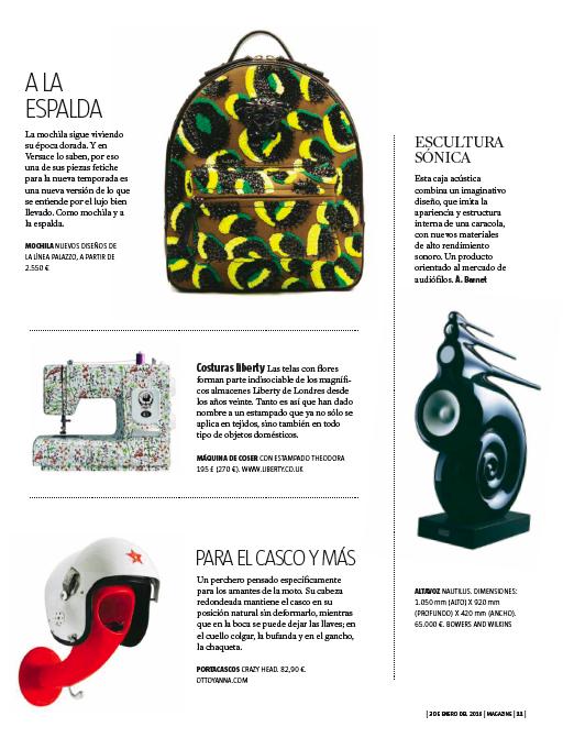 Magazine La Vanguardia porta cascos